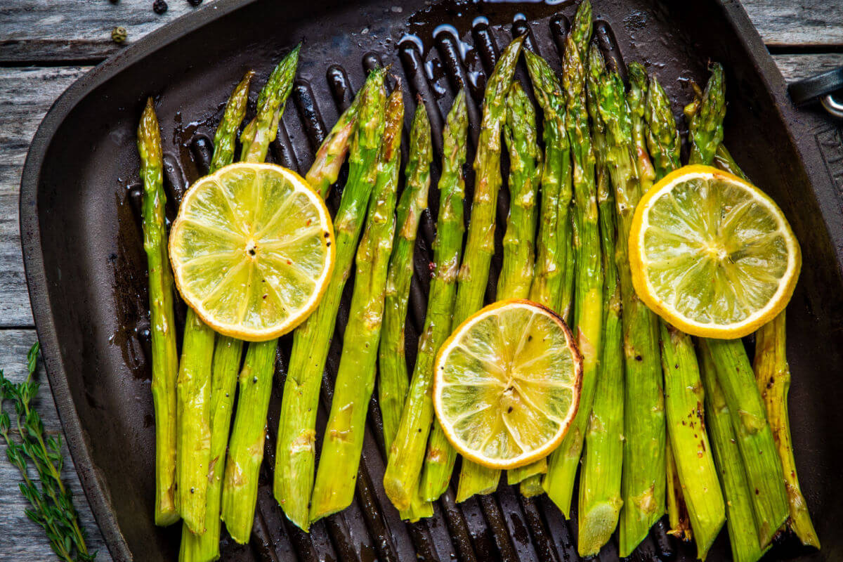Father's Day Menu - Lemon Parmesan Roasted Asparagus