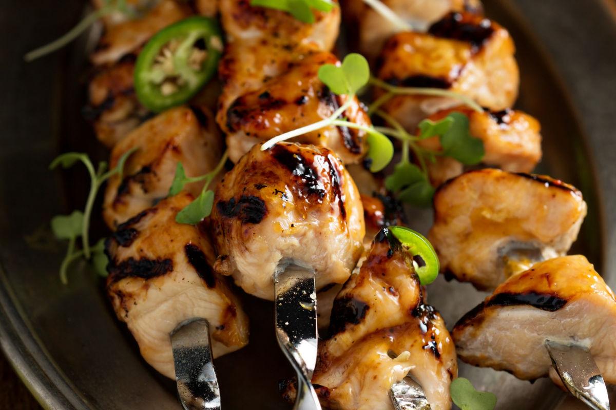 Spicy Sweet Chicken Kabobs