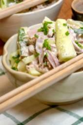 Japanese Tuna and Ham Pasta Salad Recipe
