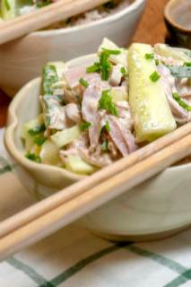 Japanese Tuna and Ham Pasta Salad Recipe