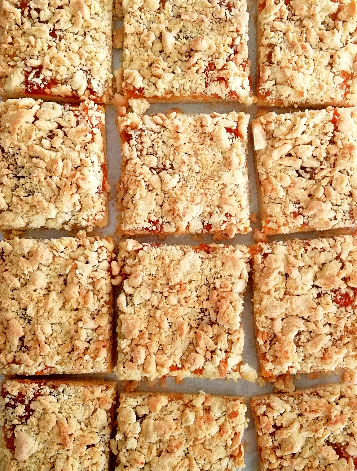 Apricot Jam Bars with a Crumb Topping