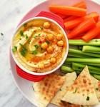 hummus in bowl close up