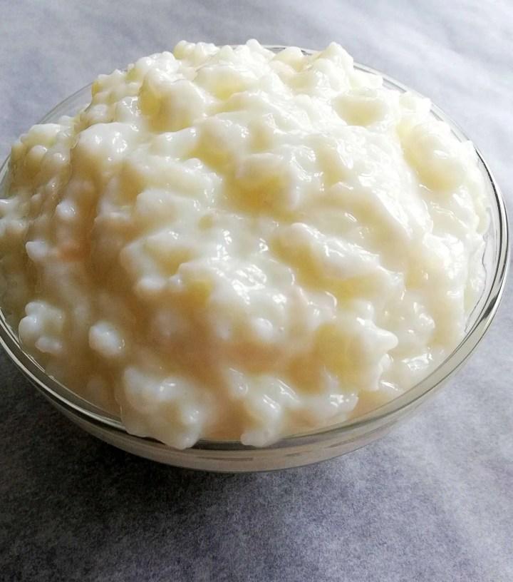plain rice pudding no topping