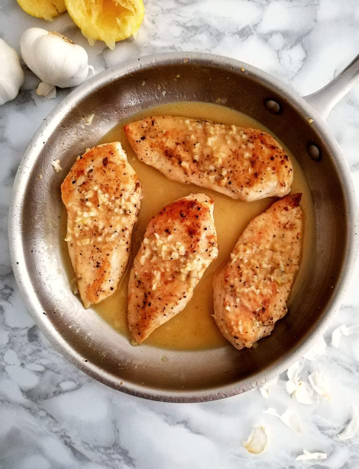 chicken with white wine sauce completed