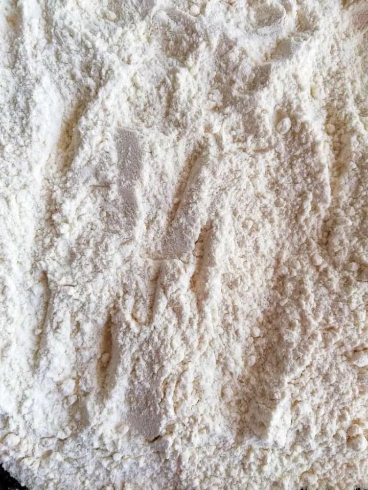 flour on baking sheet