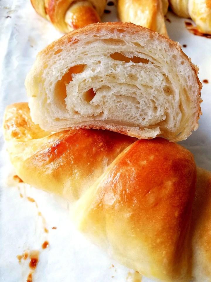 baked croissant inside