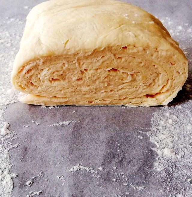 croissant dough layers