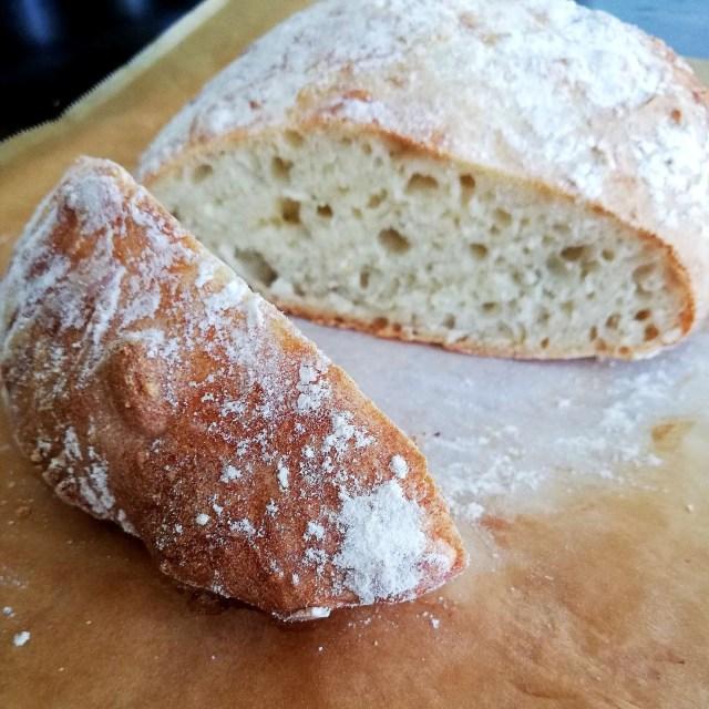 no knead bread crust