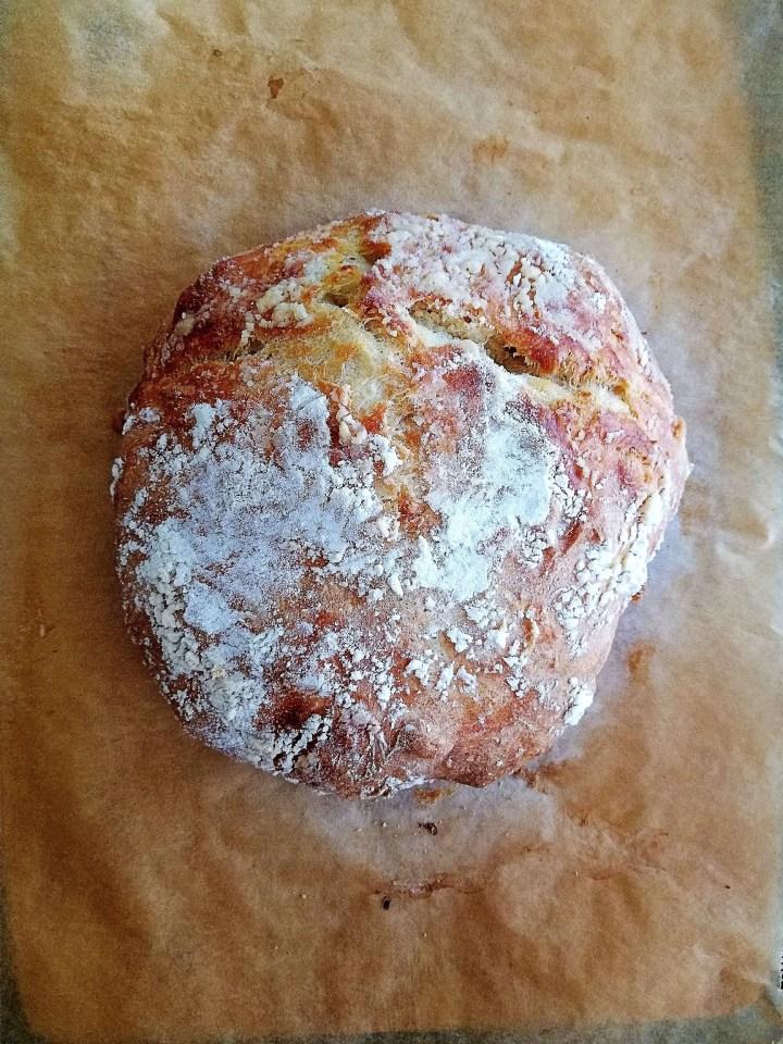 no knead bread loaf