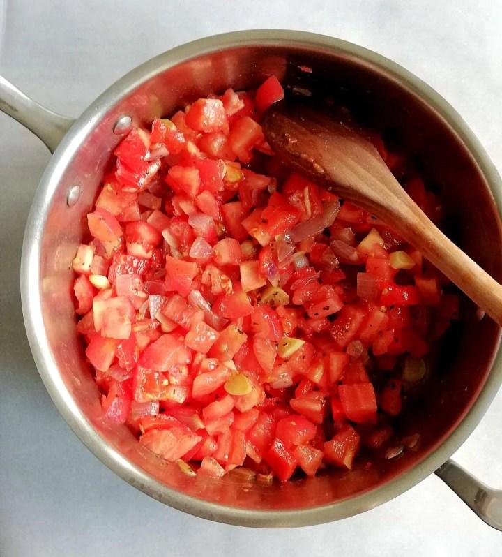 tomato soup prep veggies