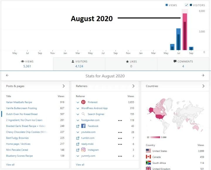 august 2020 traffic