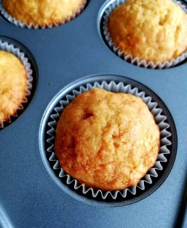 carrot cake muffins closeup
