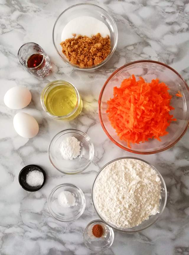 carrot muffins ingredients