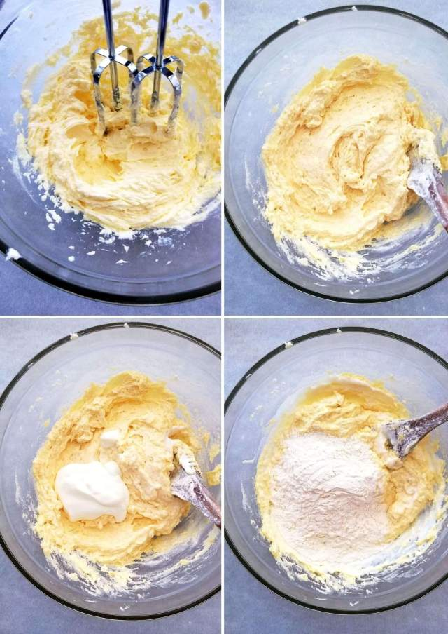 pound cake batter sour cream and dry ingredients