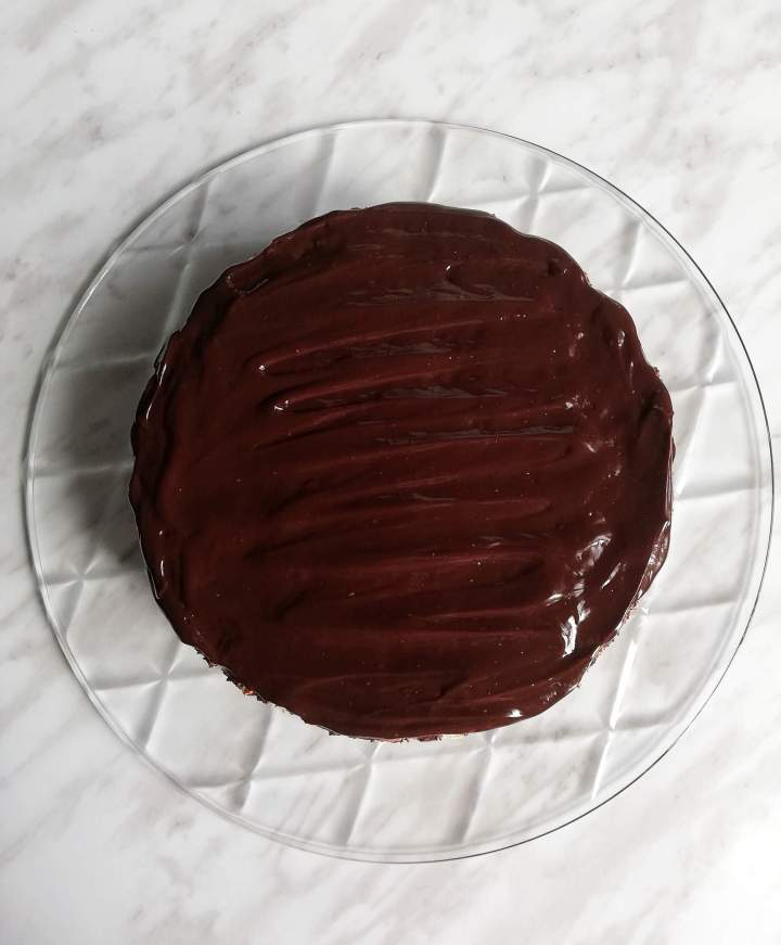 chocolate lazy cake overhead