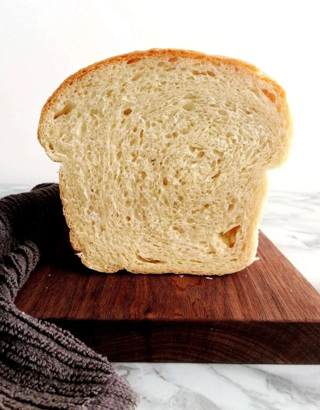 sandwich bread loaf inside view head on image