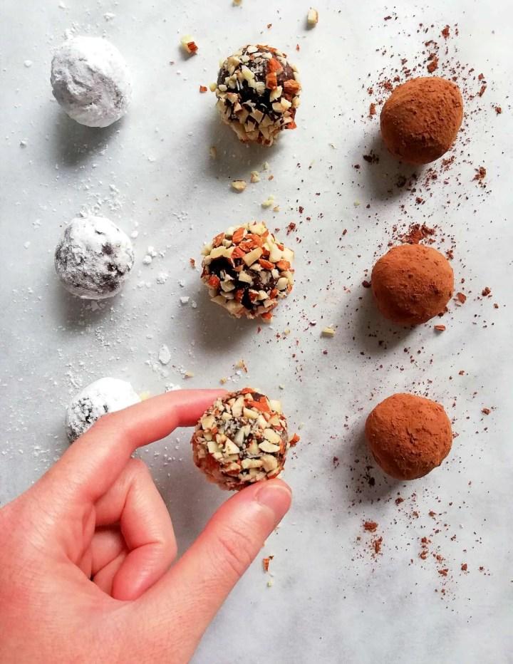 chocolate truffles overhead