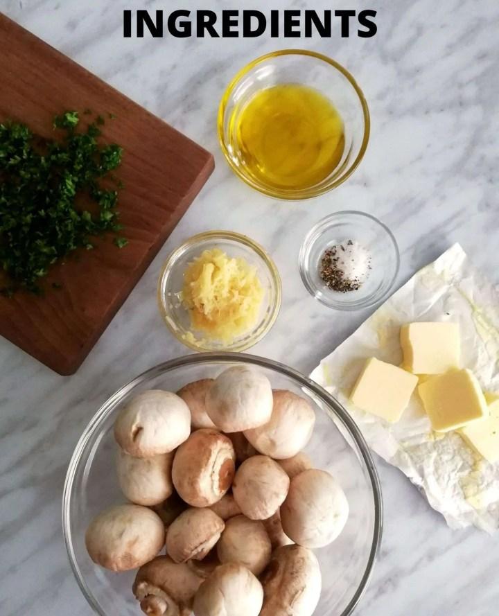 garlic butter mushrooms ingredients