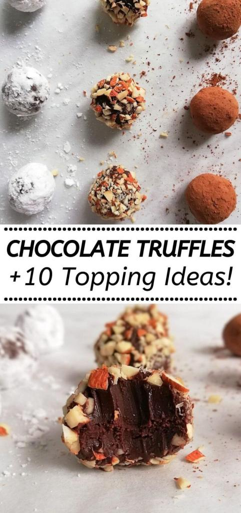 how to make chocolate truffles and 10 different chocolate truffle topping ideas