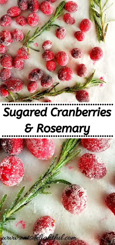 how to make sugared cranberries and rosemary