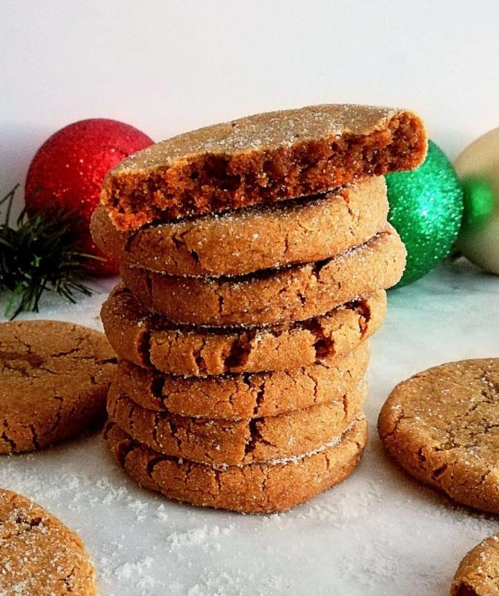 molasses cookies inside view