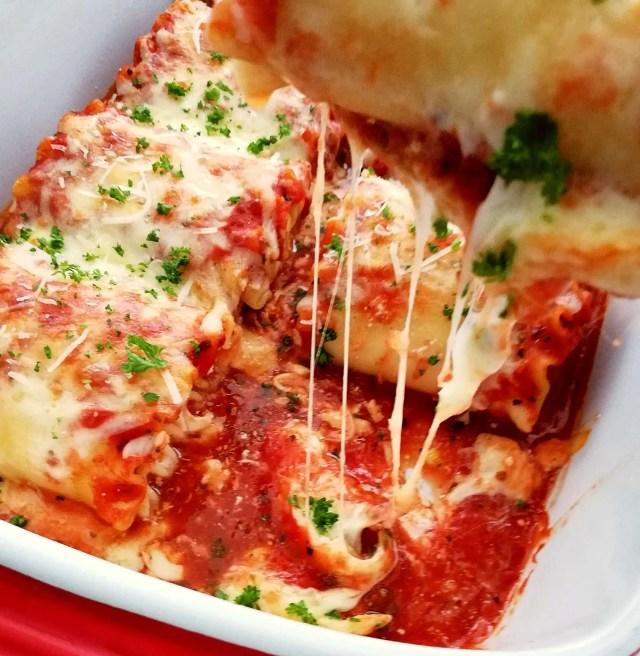 lasagna rolls cheese