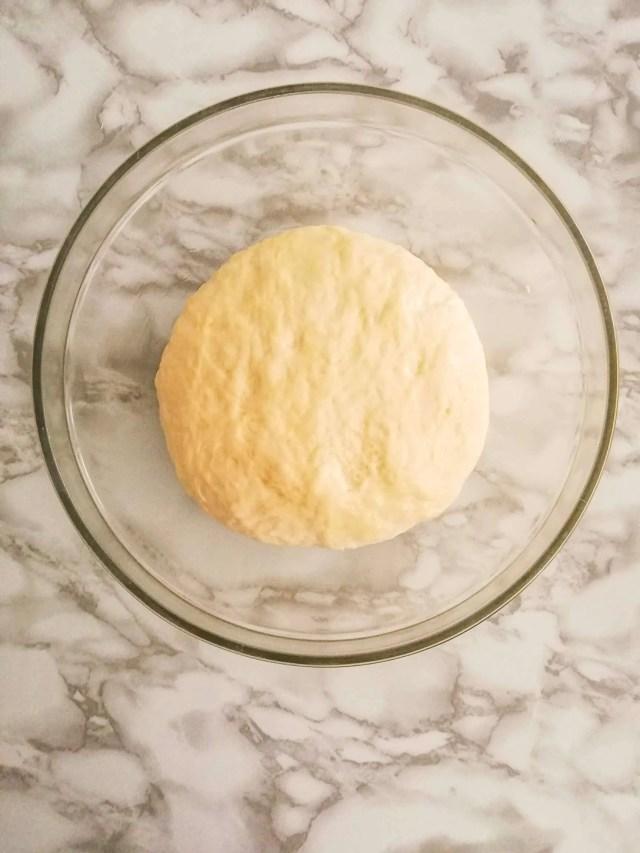 homemade bagels dough before rising