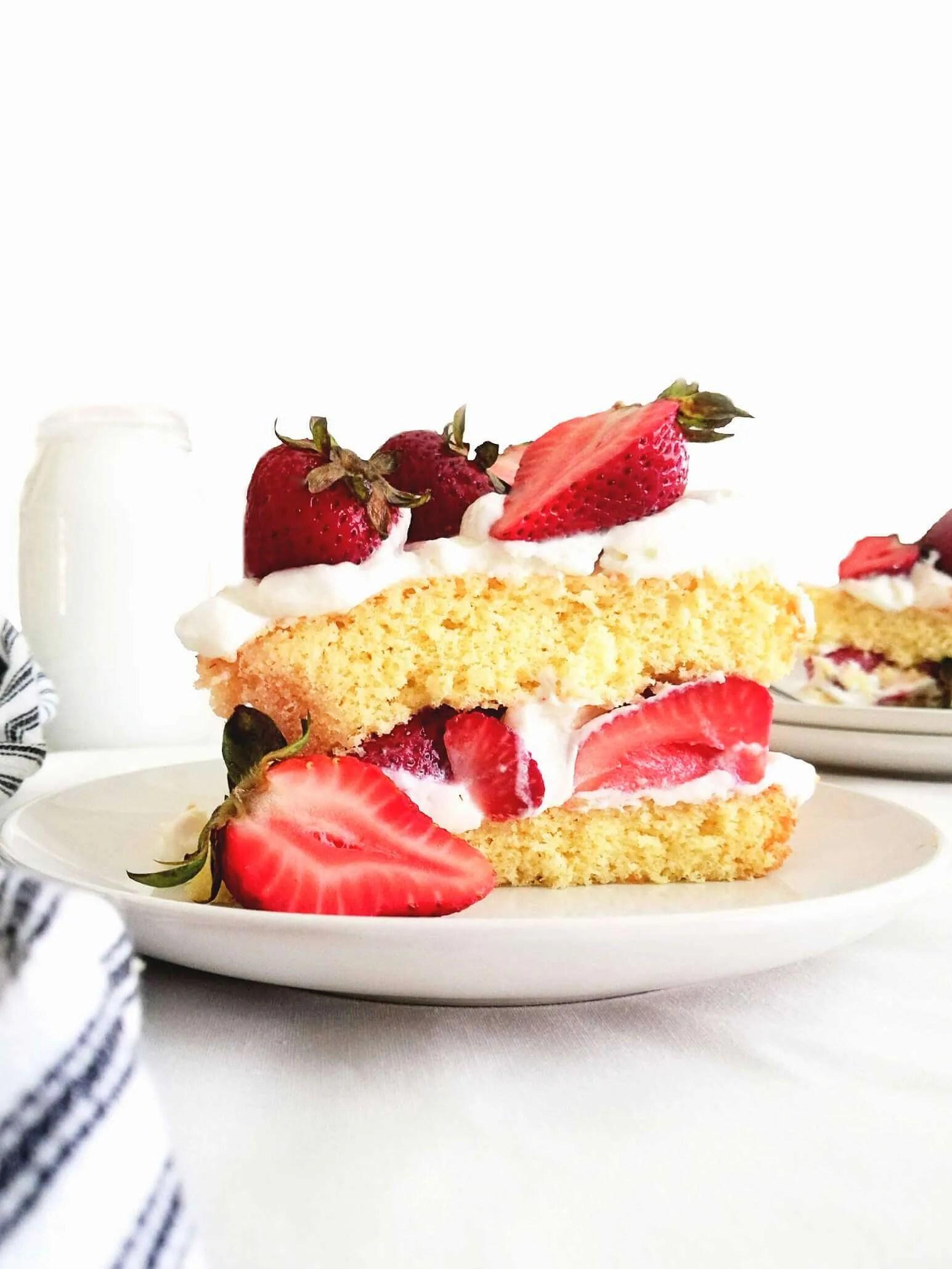 Strawberry Shortcake Cake (with Vanilla Sponge Cake)