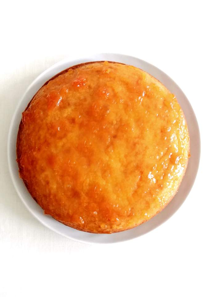 coconut jam cake vanilla cake topped with jam