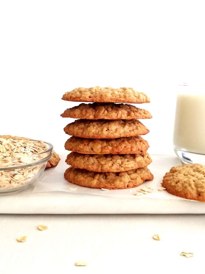 oatmeal cookies stacked on serving platter (1) (1)