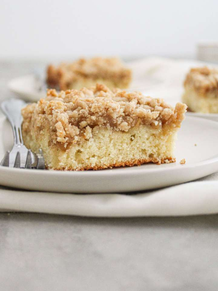 apple cake slice in plate side view (2)
