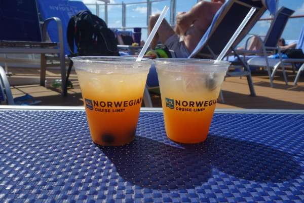 Norwegian Cruise Drink of the Day on Norwegian Escape