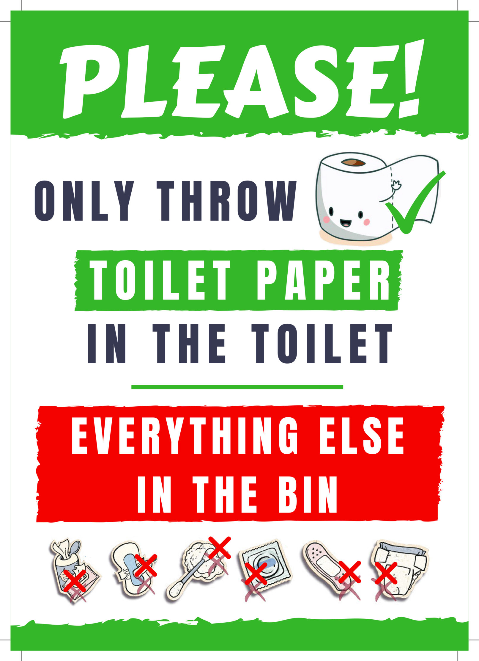 picture about Free Printable Do Not Flush Signs identified as Do Not Flush Indication - Totally free PRINTABLE for your Airbnb Consume