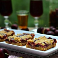 Cherry Bourbon Crumble Bars