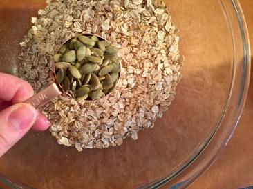 Add the pepita seeds