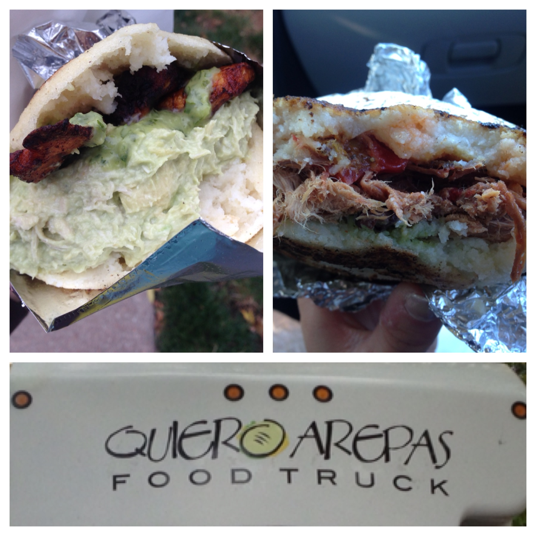 Lunch from Quiero Arepas