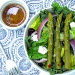 Crunchy Salad with Pickled Asparagus Vinaigrette