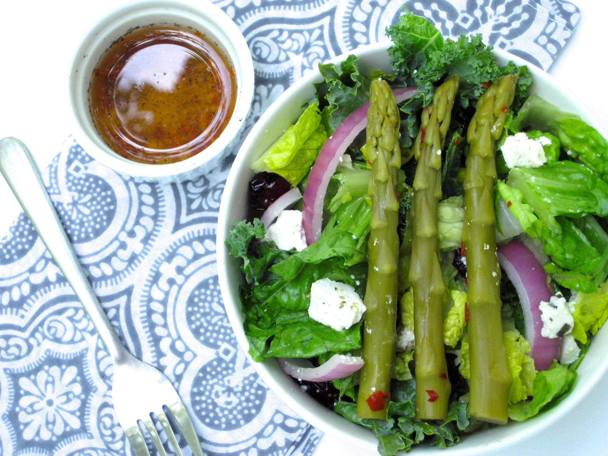 Crunchy Salad with Pickled Asparagus Vinaigrette