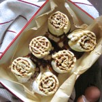 Apple Cinnamon Rolls | These paleo cinnamon rolls use apple pieces in place of raisins for a unique fall treat. | eatsomethingdelicious.com