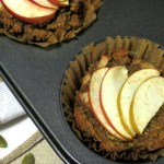 Spiced Apple Muffins | Paleo spiced apple muffins made from pumpkin seed flour with mahlab added for a unique flavor. Try them topped with coconut oil or butter. | eatsomethingdelicious.com