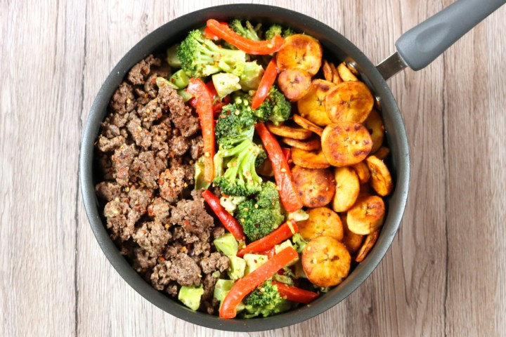 Big Skillet Dinner | A weeknight dinner customized with ingredients you have on hand and what's currently in season. Easy and makes plenty of leftovers, if you aren't too hungry! | eatsomethingdelicious.com