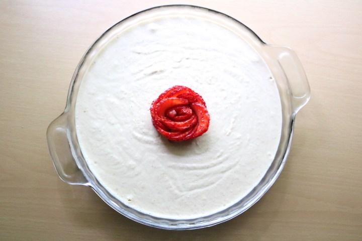Lemon Cheesecake | A vegan, paleo lemon cheesecake made from cashew cheese. Crushed cinnamon pecans mimic a graham cracker crust, making it naturally gluten free. | eatsomethingdelicious.com