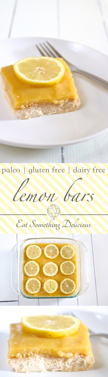 Lemon Bars | Sweet and tart lemon bars without the refined sugar, gluten, or dairy. | eatsomethingdelicious.com