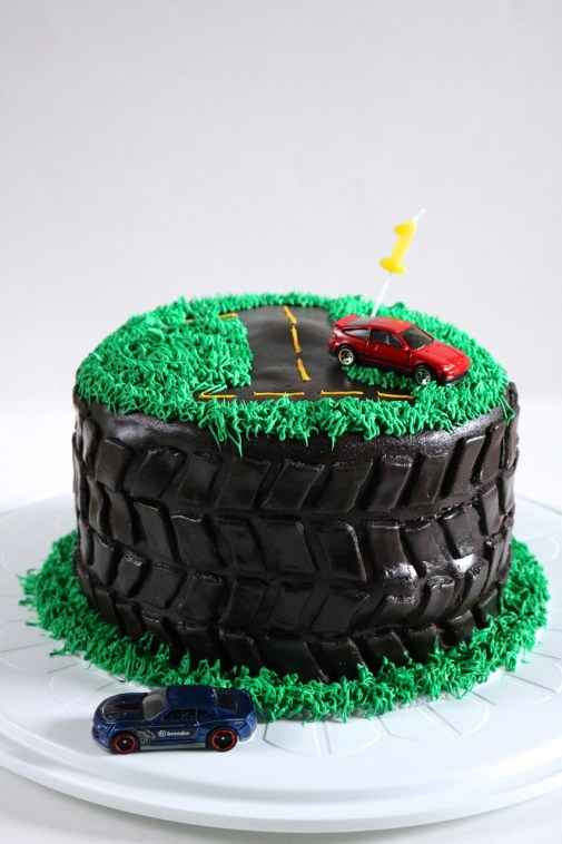Allens Tire Birthday Cake