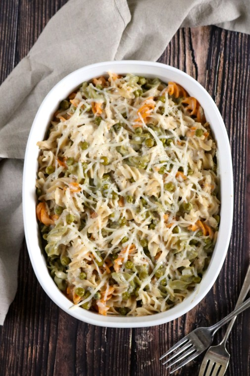 """Cheesy Tuna Noodle Casserole 