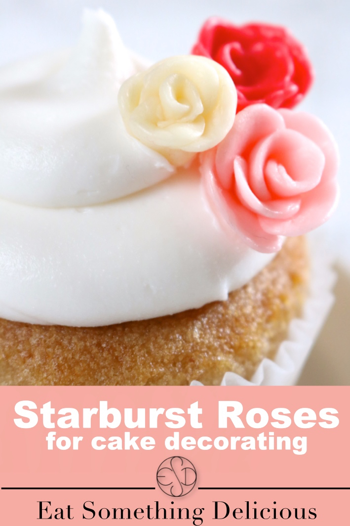 Starburst roses for cake decorating | Learn how to make roses out of Starburst candies. Use these Starburst roses as a substitute for buttercream roses on cakes and cupcakes. | eatsomethingdelicious.com