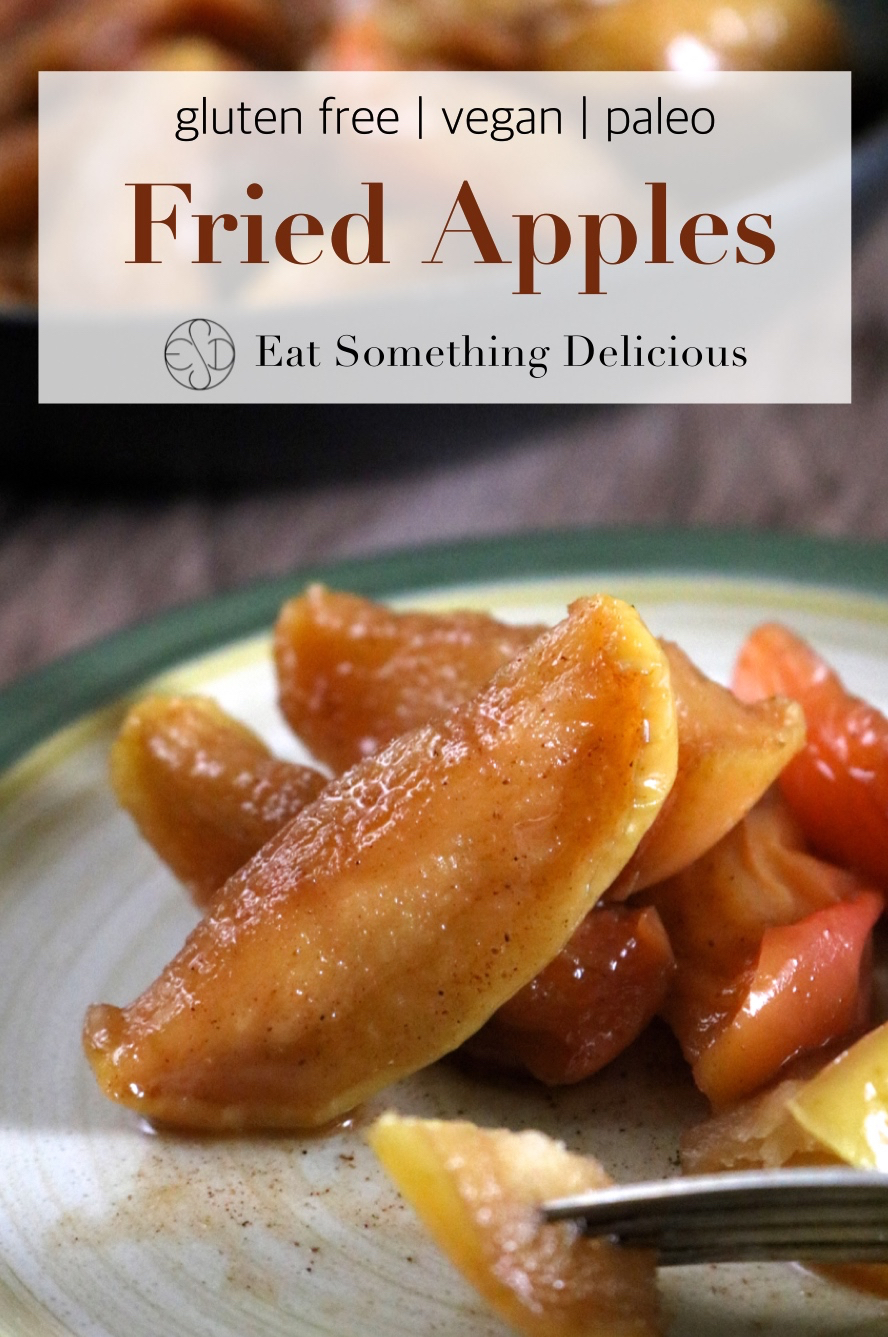 Fried Apples | Spiced fried apples can be enjoyed as a sweet side dish, as dessert over ice cream or cheesecake, or for breakfast on french toast or crepes. | eatsomethingdelicious.com