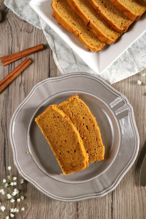 Sweet Potato Bread | This gluten free, dairy free sweet potato bread is just a little sweet and packed with fall flavors. Serve with butter for a Thanksgiving side or appetizer. | eatsomethingdelicious.com