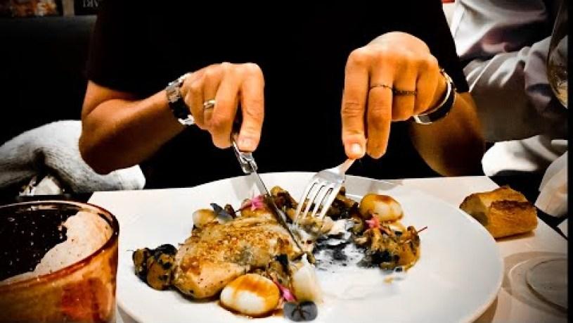 Dinner In Mon Petit Cafe In Nice in France.