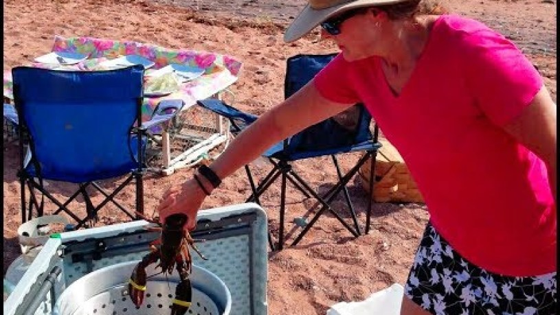 PEI Beach Lobster Boil